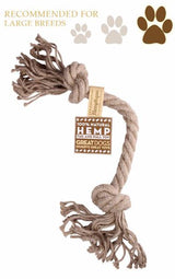 Hemp Rope Tug+Pull Dog Toy - Large - Tribe CBD + Cannabinoids