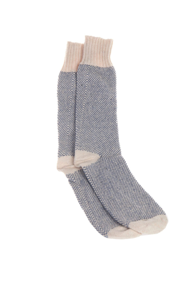 Hemp Knit Socks Blue - Tribe CBD + Cannabinoids