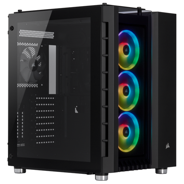 Corsair Crystal Series 680X RGB High Airflow ATX Smart Case; Black;  Tempered Glass Panel