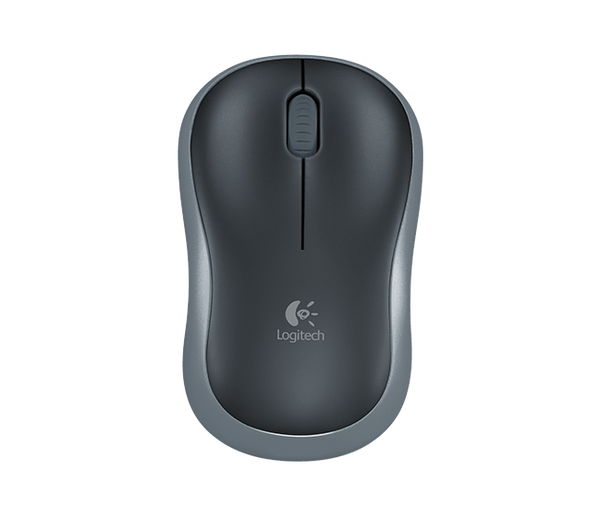 Logitech Wireless Mouse M185 (Black & Swift Grey)