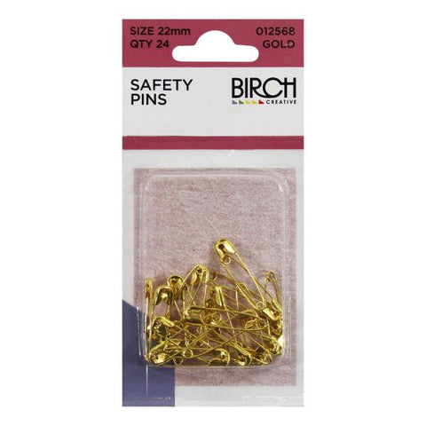 Midget Safety Pins Gold