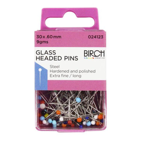 Glass Headed Pins