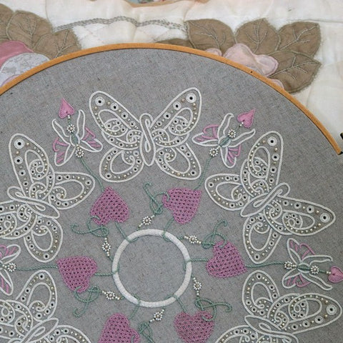 Butterfly Kisses - Freestyle Embroidered Mandala - Full Kit
