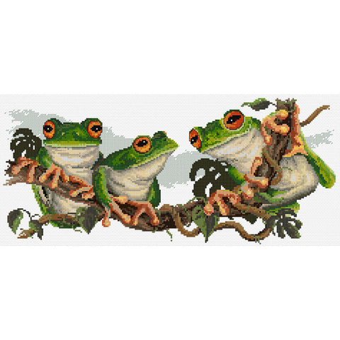 Green Frogs - Cross Stitch Chart
