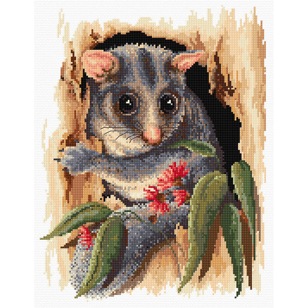 Peek-a-boo Possum - Cross Stitch Chart