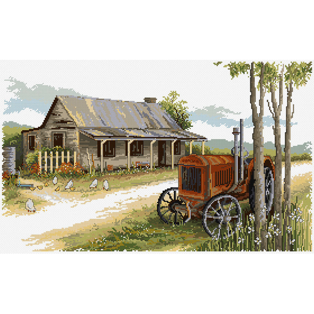 Old Tractor Cottage - Cross Stitch Chart
