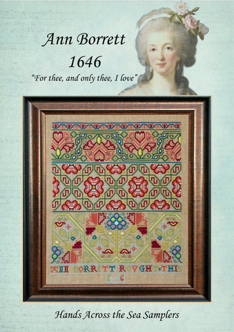 Ann Borrett 1646 - Reproduction Sampler