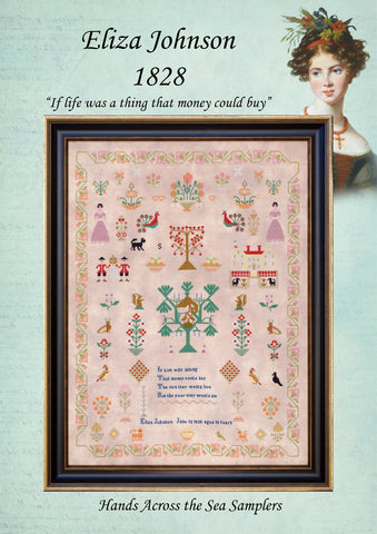 Eliza Johnson 1828 - Reproduction Sampler