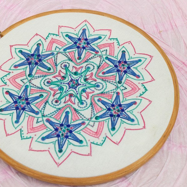 Stardust - Freestyle Embroidered Mandala - Full Kit