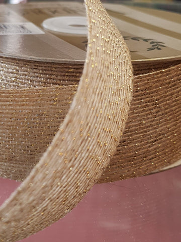 Jute Ribbon with Gold