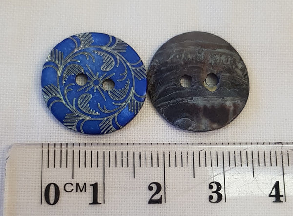18 mm Laser effect Shell Button