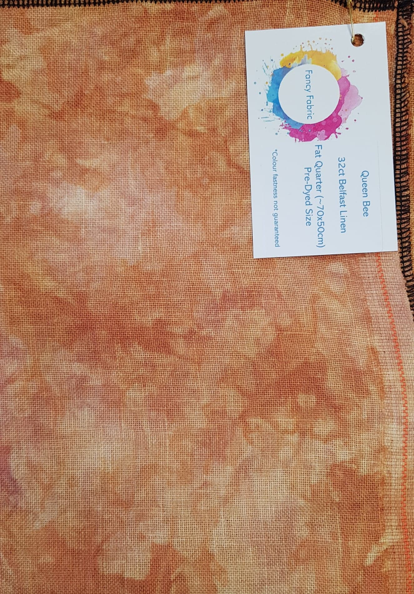 Hand Dyed Fabric - 28 count 'Queen Bee' 70 x 50cm