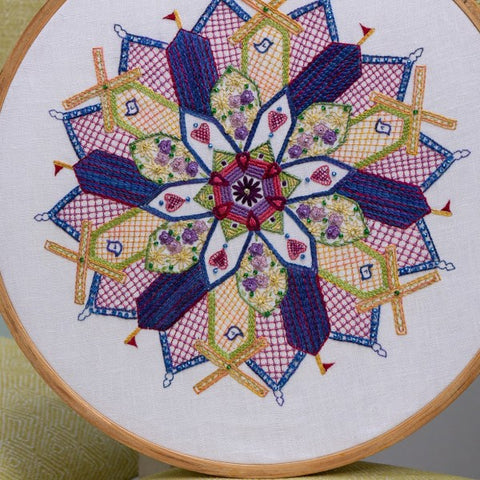 Housy House - Freestyle Embroidered Mandala - Pattern & Beads ONLY
