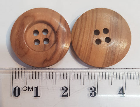 22mm Natural Olivewood Wide rim button