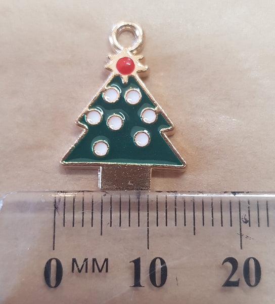 Christmas Tree Charm - 14mm x 20mm
