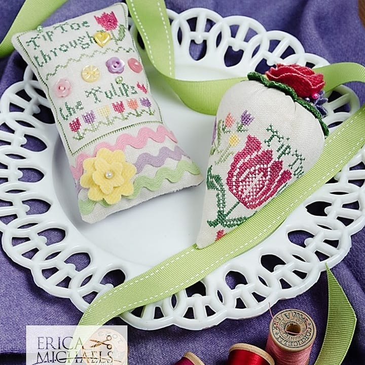 Tip Toe Through the Tulips - Cross Stitch Pattern