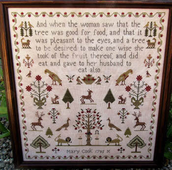 Mary Cook 1795 - Reproduction Sampler Cross Stitch Pattern