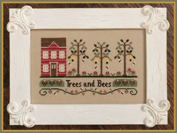 Trees and Bees - Cross Stitch Pattern