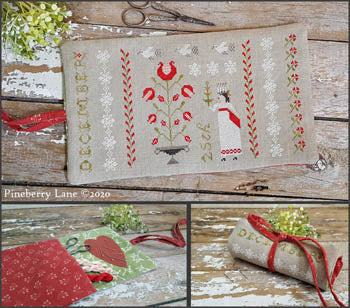 Christmastime Sewing Roll - Cross Stitch Pattern