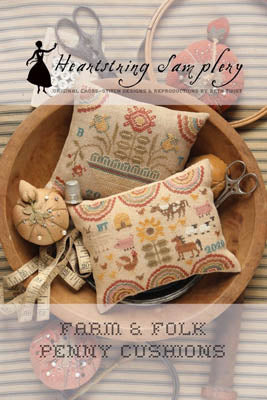Farm & Folk Penny Cushions - Cross Stitch Pattern
