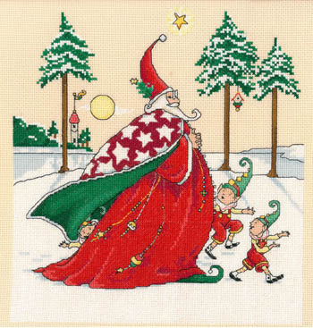 Christmas Wizard Cross Stitch Chart