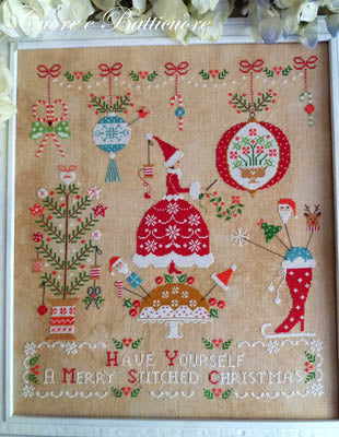 Natale Ricamato (Embroidered Christmas) - Cross Stitch Pattern