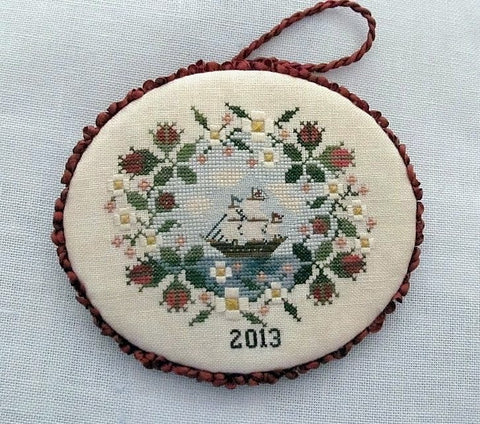 Mayflower Rose Ornament - Cross Stitch Pattern