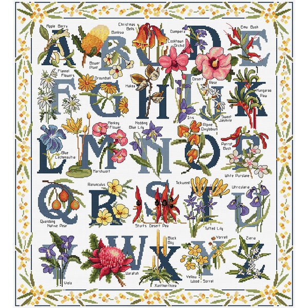 Australian Wildflowers Sampler - Cross Stitch Chart