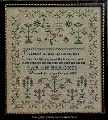 Sarah Burgess 1828 - Cross Stitch Pattern