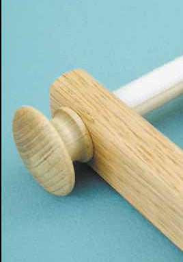 Oak Knobs for Scroll Frames