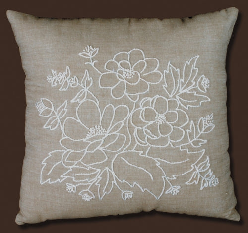 Floral Candlewick - Cushion kit