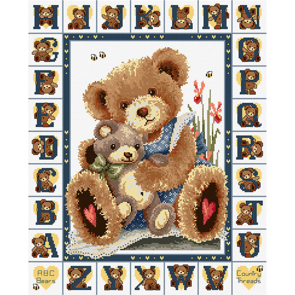ABC Bears - Cross Stitch Chart