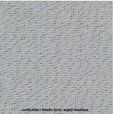 28 count Cashel Linen - Platinum Metallic