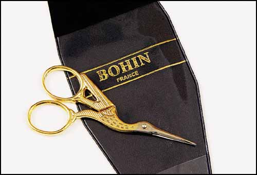 Bohin Stork Embroidery Scissors -small