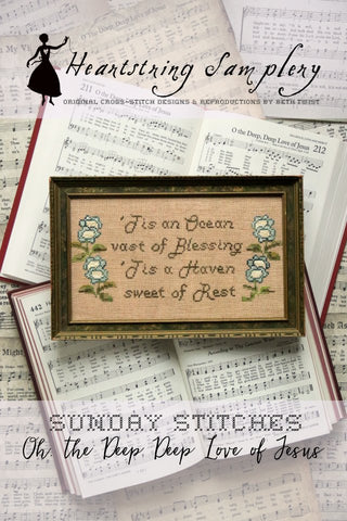 Sunday Stitches ~ Oh the Deep Deep Love of Jesus - Cross Stitch Pattern