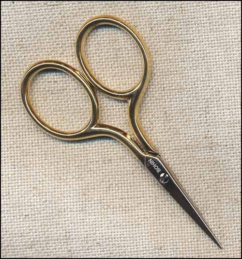 "Bohin Gilt Hand 2.75"" Embroidery Scissors"