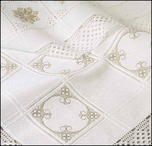 18 count Anne Cloth Afghan - White