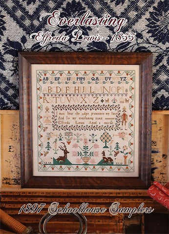 Reproduction Sampler - Everlasting, Elfreda Lewis 1833