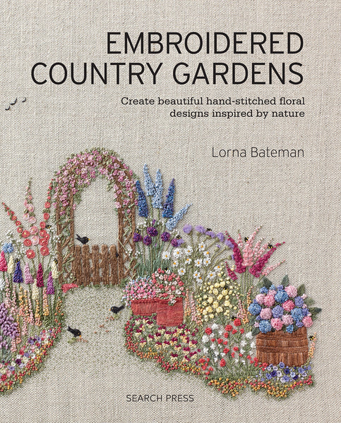 Embroidered Country Gardens Book