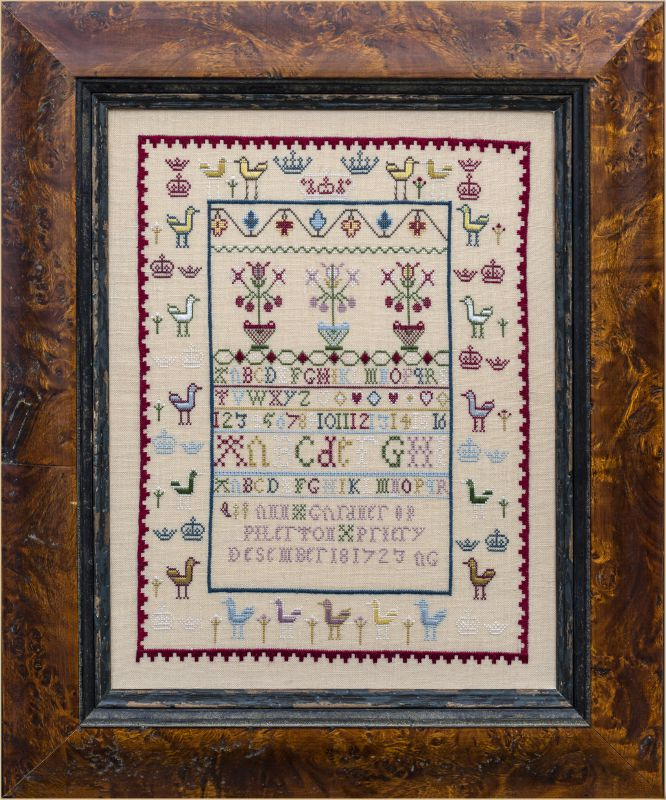 Ann Gardner 1723 ~ Reproduction Sampler