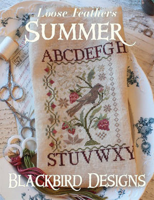 Summer - Loose Feathers - Cross Stitch Pattern REPRINT