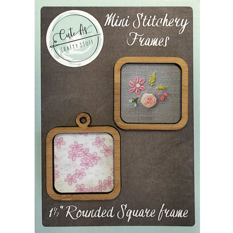 "Mini Stitchery Frames 1.5"" Rounded Square"