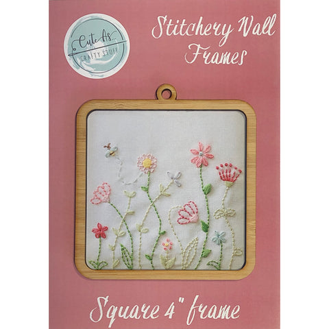 "Stitchery Wall Frames 4"" Square"