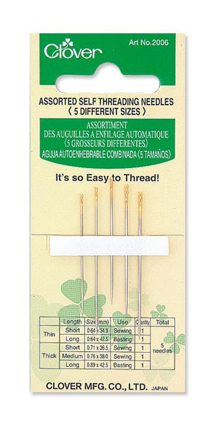 Needles - Assorted Self Threading (5pack)