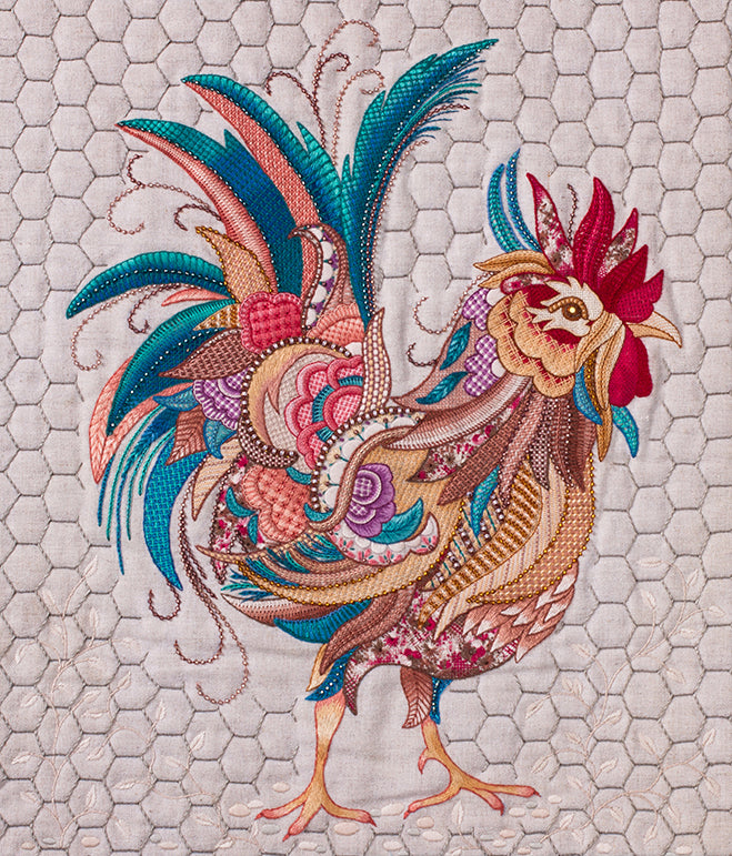 Colin the Rooster from Crewel Birds