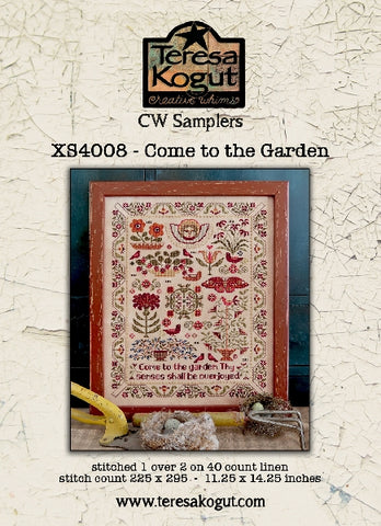 Come to the Garden -  Cross Stitch Pattern