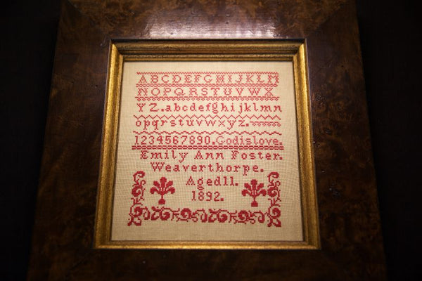 Emily Ann Foster 1892 - A Little Gem Reproduction Sampler (PDF)