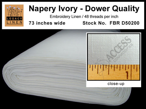 Legacy Linen - 48ct Napery Ivory - 95cm wide