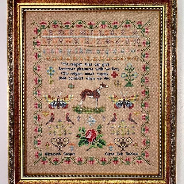 Elizabeth Cooper 1866 - Cross Stitch Pattern