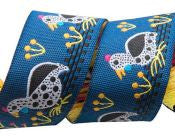 Blue Guinea Fowl Ribbon - Folk Tails by Sue Spargo